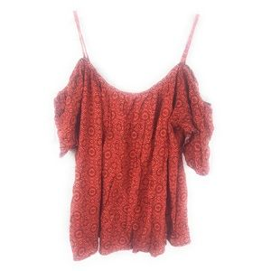 One love clothing large cold shoulder orange